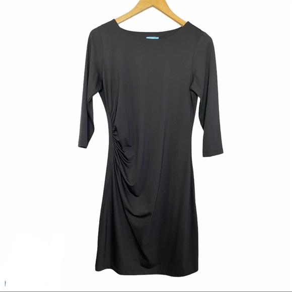 J McLaughlin Sage Black Dress Catalina Cloth